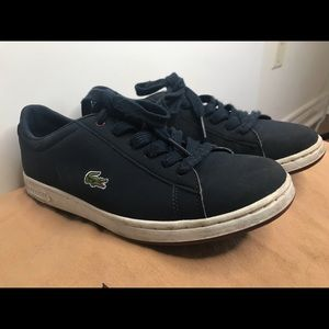 Lacoste Navy suede boy size 6 US